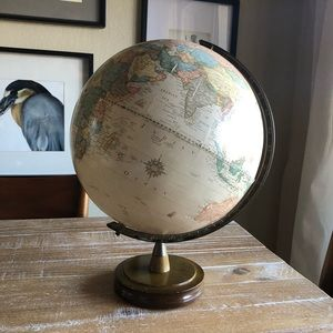 The George F Cram Co Classic Globe with Wood Stand